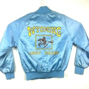 VTG Army National Guard Satin Jacket Wyoming Blue